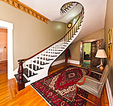 Spectacular spiral staircase & working vault room at 235 S. Court St., Montgomery, AL. Professional photos and tour by Go2REasssistant.com