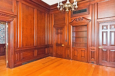 Beautiful wood paneled office at 235 S. Court St., Montgomery, AL. Professional photos and tour by Go2REasssistant.com